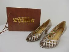 """Seychelles Silver Pewter Leather Women's SHOES 3"""" Heel Size: 8"""
