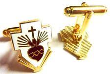 SACRED HEART Cross Jesus Catholic Pope Frances Vatican Cufflinks Cuff Links Set