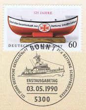 BRD 1990: Seenotrettung Nr. 1465 mit sauberem Bonner Ersttagsstempel! 1A! 1806