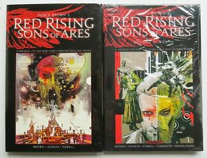 Red Rising Sons of Ares 1 2 HC Piece Brown Dynamite Graphic Novel Comic Book Lot