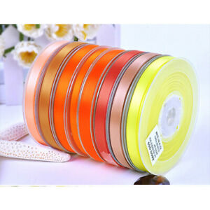 1 Roll 100 Yards Double-Face Satin Ribbon 6/9/13/16/19/22/25/28/32/38/50 mm