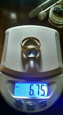 10k gold ring blue sapphire size 8.75