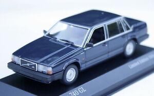 Volvo 740 GL Limousine Bj. 1984-1989, Dark Blue, MINICHAMPS 1:43, Limit. 500pcs