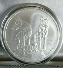 Aware and Prepared 1 oz .999 Silver Shield sheep dog protecting the flock wolf