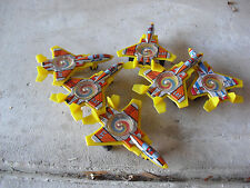 "Lot of 6 Vintage Tin Plastic F-15 LAT Fighter Plane Toys 4 1/4"" Long"