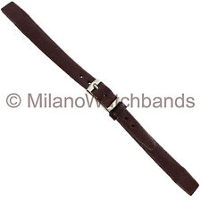 10mm Hirsch Genuine Leather Brown Flat Open Ended Ladies Watch Band