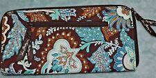 Vera Bradley Large Zip Around Travel Organizer sexy Women Wallet in Java Blue