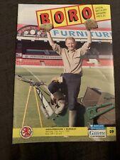 1992 Middlesbrough V Barnsley  Football Programme