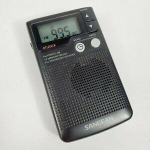 Sangean Radio ☆ DT-200X FM Stereo/AM Digital Tuning Pocket Speaker TESTED