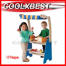 NEW HAPE MARKET CHECKOUT w CASHIER & SCALE WOODEN TOY PRETEND PLAY SHOP STALL