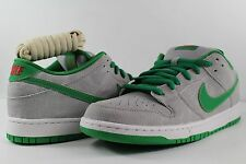 Nike Dunk Low Premium SB Matte Silver Classic Green Sail Varsity Red Size 10.5
