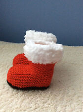 BABY Christmas boots KNITTING PATTERN ONLY   BABY DK YARN  0-3 3-6  6-9 months