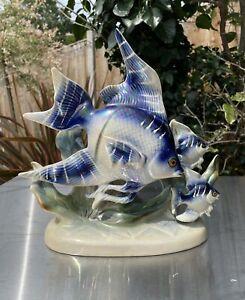 Jema Holland 261A Fish Ornament Home Cafe Fish Shop Display Gloss Ceramic