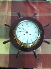 VINTAGE SCHATZ SHIPS CLOCK AND BAROMETER NO KEY needed. Items bought in Europe!
