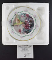 Bradford Exchange Hummingbird Plate Fuchsia Fantasy Natures Jewels - Lena Liu