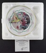 Bradford Exchange Hummingbird Plate Fuchsia Fantasy Natures Jewels - Lena Liu