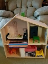 Ikea Wooden Dollhouse Shelf with Living Room & Bedroom Huset Furniture