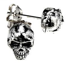 Totenkopf Skull 925 Silber Ohrringe Ohr  Paarpreis Sterling Silber Nr. 49