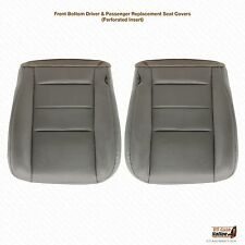 2002 03 2004 Ford F250 F350 Lariat Driver & Passenger Leather Seat Cover GRAY