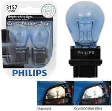 Philips Crystal Vision Ultra Light 4157 3157 27/7W Two Bulbs DRL Daytime Replace