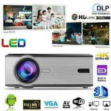 4K Full HD 1080P LED Mini Projector Home Theater 3D Video Movie HDMI/AV/VGA/USB