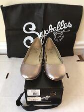 Seychelles Gala Ballet Flats Women's Size 8 Pewter/Silver Metallic New In Box