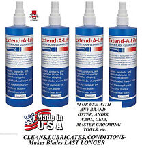 4 -EXTEND-A-LIFE CLIPPER BLADE RINSE CLEANER SPRAY Lube*For ANY Oster,Andis,Wahl