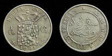 Netherlands Indies - 1/10 Gulden 1901 Zeer Fraai ~ Scho. 831