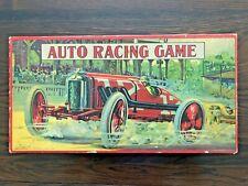 Antique Rare Vintage 1930 AUTO RACING GAME board Game Milton Bradley Excellent!