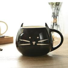 420ml Cute Cat Coffee Milk Tea Drink Ceramic Mug Cup White/ Black Lover Kid Gift