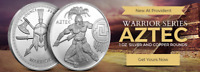 THE AZTEC WARRIOR 1 OZ SILVER COIN ROUND Warrior Series #2 of 6 IN-STOCK!!