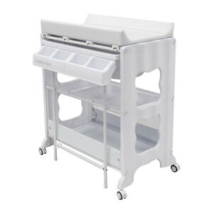 Childcare Montana Changing/Bathing 100cm Change Centre Table for Baby/Infant WHT