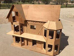 """""""Harrison"""" Tudor Farmhouse Dollhouse Miniature House (Partially Completed Kit)"""