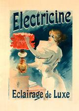 Électricine by Lucien Lefevre 90cm x 64cm Art Paper Print
