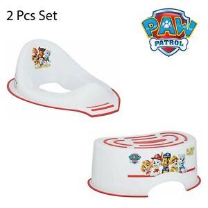 2PCS Paw Patrol Toddler Kids Plastic Potty Training Set - Step Stool,Toilet Ring