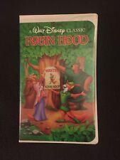 Rare Walt Disney Black Diamond Classic Robin Hood VHS 1189