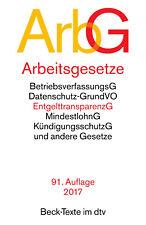 Arbeitsgesetze (ArbG) von em. Professor Dr. Reinhard Richardi (2016, Taschenbuch)