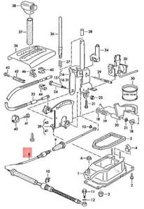 Genuine VW Clasico Jetta Corrado Golf Cable For Shift Mechanism 535713265