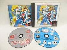 ROCKMAN X4 The BEST Megaman Item ref/ccc PS1 Playstation Japan Game p1