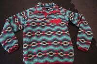 Patagonia Synchilla Snap T Fleece Pullover Womens (S) SmallTeal Pink Aztec