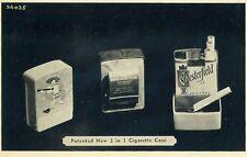 1940 Chesterfield Patented New 3 In 1 Cigarette Case Rare Postcard