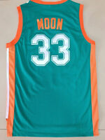 New Jackie Moon Flint Tropical Jerseys #33 Basketball Jersey Stitched Green