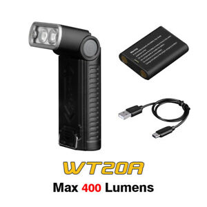 Fenix WT20R Cree LEDs USB Rechargeable 400lms Angled Head Work Flashlight Torch