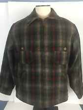 Woolrich Classic Field Men's Wool Blend Multi Plaid Cold Weather Medium Coat
