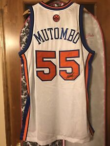 Dikembe Mutombo Autographed New York Knicks Authentic NBA Jersey - October Sale