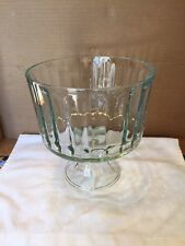 Vintage Stemmed Glass Fruit Bowl Centerpiece