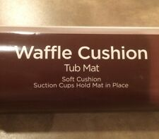 True Living Waffle Cushion Tub Mat with Suction Cups 16.75 in x 35.5 White