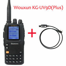 Wouxun KG-UV9D+ Walkie Talkie UHF/VHF Cross-Band Repeater Radio+Program Cable ON
