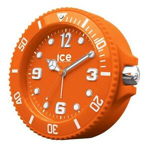 BRAND NEW ICE ALARM CLOCK ORANGE WITH CARRY CASE SNOOZE FUNCTION AND BACKLIGHT