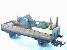 296+  Wehrmacht Panzerjäger Waggon PAK Panzerzug DR Märklin